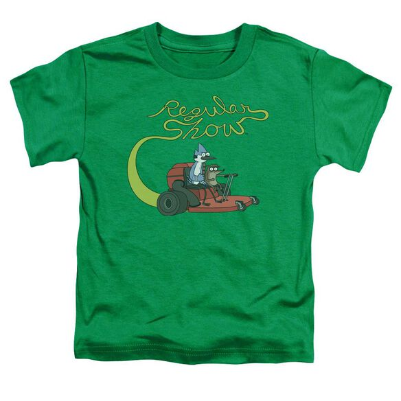 Regular Show Mower Short Sleeve Toddler Tee Kelly Green T-Shirt