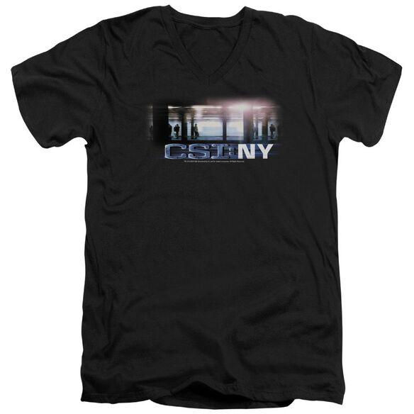 Csi New York Subway Short Sleeve Adult V Neck T-Shirt