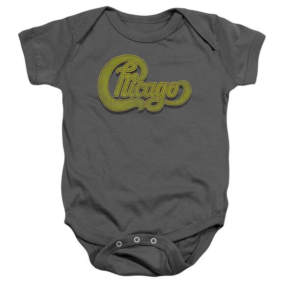 Chicago Distressed Infant Snapsuit Charcoal