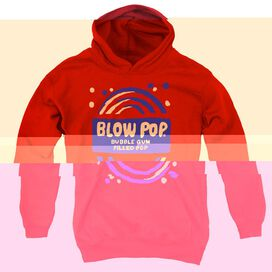 Tootsie Roll Blow Pop Rough-youth Pull-over Hoodie - Red