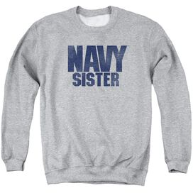 Navy Sister Adult Crewneck Sweatshirt Athletic