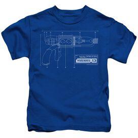 WAREHOUSE 13 TESLA GUN - S/S JUVENILE 18/1 - ROYAL BLUE - T-Shirt