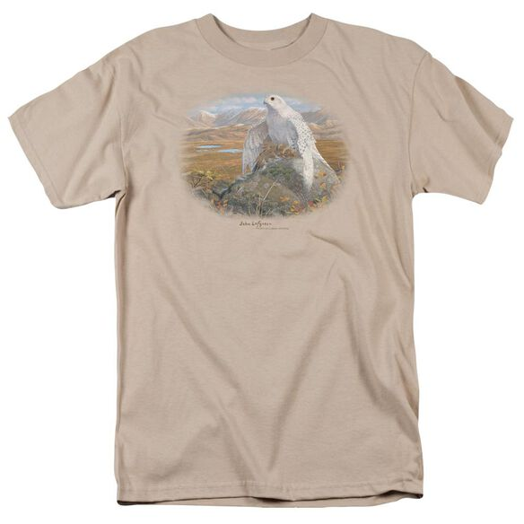 Wildlife Gyrfalcon Short Sleeve Adult Sand T-Shirt