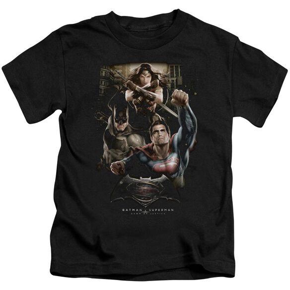 Batman V Superman Three In Action Short Sleeve Juvenile T-Shirt