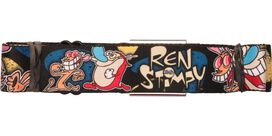 Ren and Stimpy Poses Wrap Seatbelt Belt