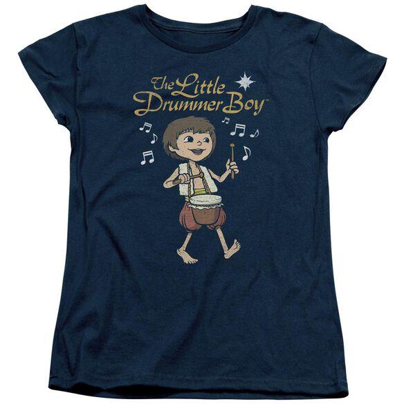 Little Drummer Boy Starlight Short Sleeve Women's Tee Navy T-Shirt