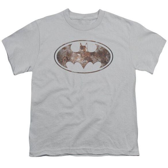 Batman Heavy Rust Logo Short Sleeve Youth T-Shirt