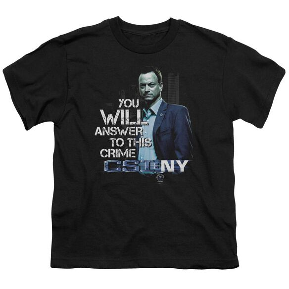 Csi Ny You Will Answer Short Sleeve Youth T-Shirt