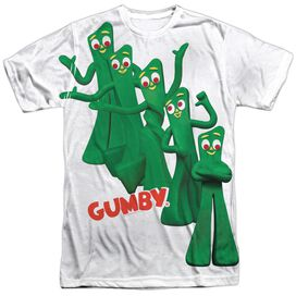 Gumby Moves Short Sleeve Adult Poly Crew T-Shirt