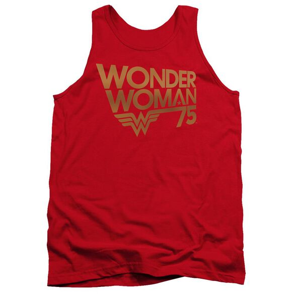 Wonder Woman Wonder Woman 75 Th Anniversary Gold Logo Adult Tank