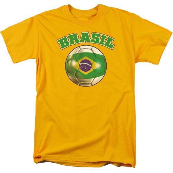 Brazil Short Sleeve Adult Gold T-Shirt