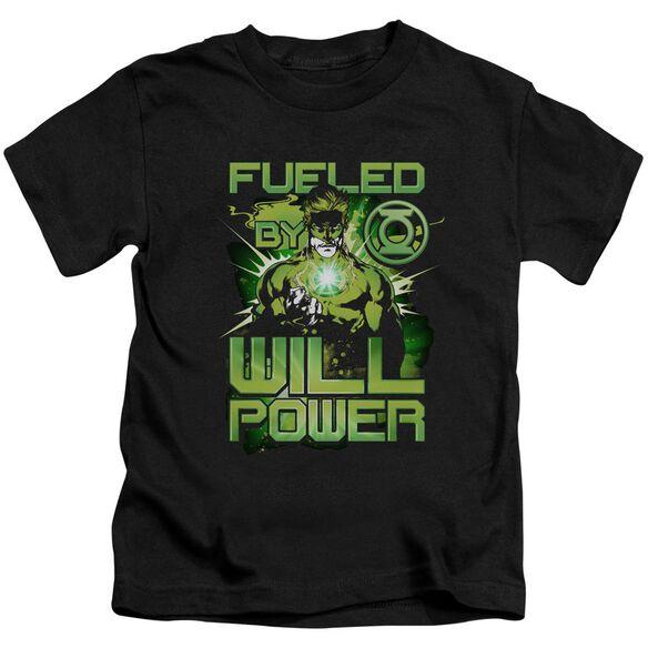 Green Lantern Fueled Short Sleeve Juvenile Black T-Shirt