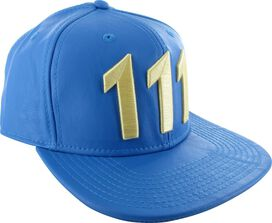 Fallout Vault 111 Faux Leather Snapback Hat