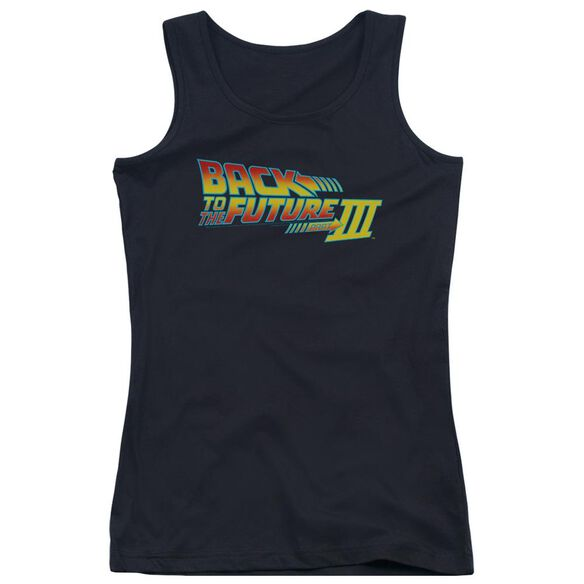 Back To The Future Iii Logo Juniors Tank Top