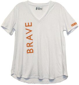Brave White Juniors T-Shirt