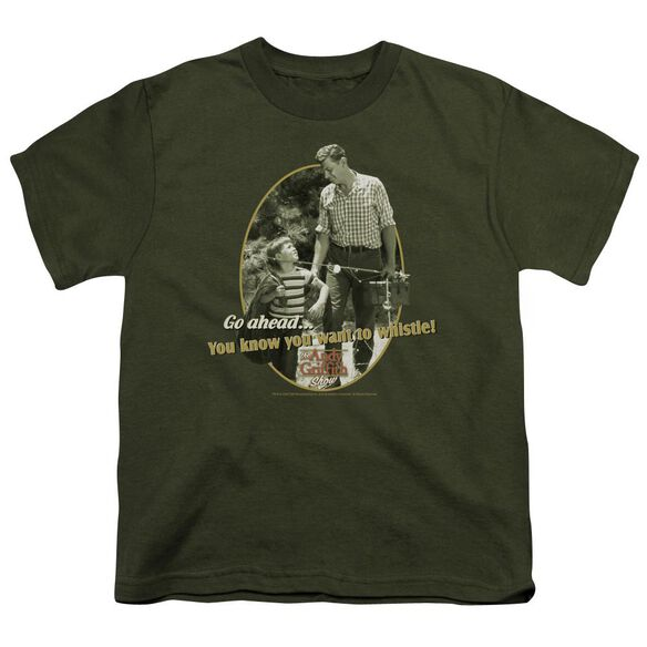 Andy Griffith Gone Fishing Short Sleeve Youth Military T-Shirt