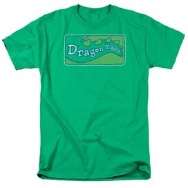 Dragon Tales Logo Distressed Short Sleeve Adult Kelly Green T-Shirt