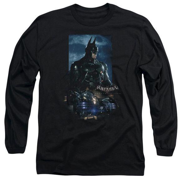 Batman Arkham Knight Batmobile Long Sleeve Adult T-Shirt