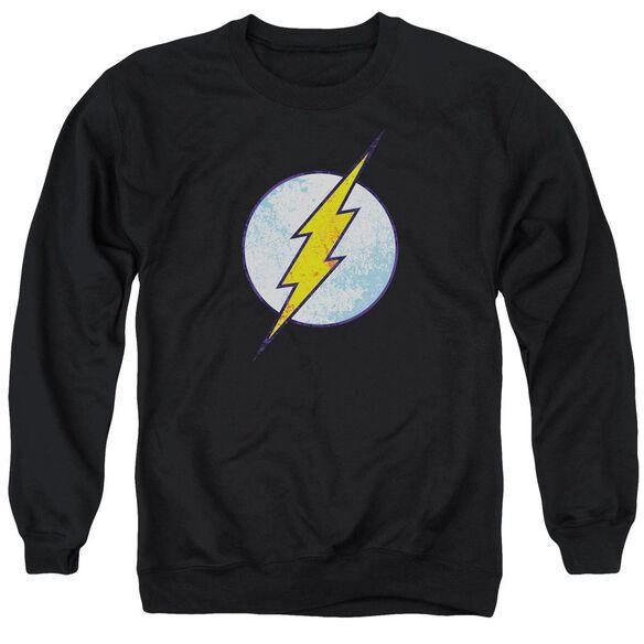 Dco Flash Neon Distress Logo Adult Crewneck Sweatshirt