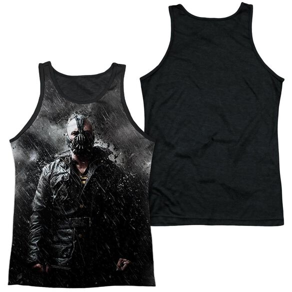 Dark Knight Rises Bane In Rain Adult Poly Tank Top Black Back
