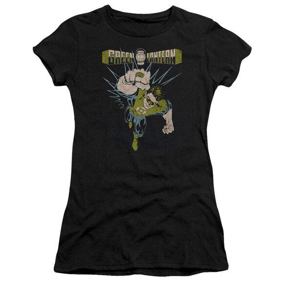 Green Lantern Powerful Short Sleeve Junior Sheer T-Shirt
