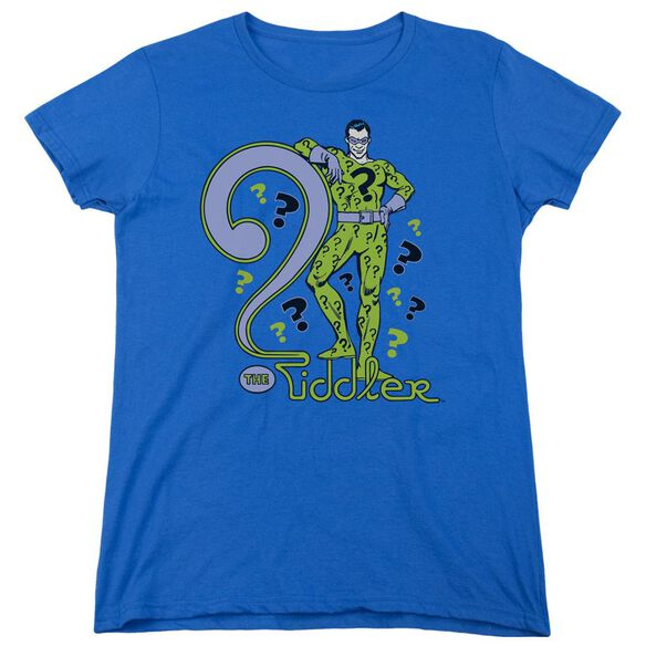 Dc The Riddler Short Sleeve Women's Tee Royal T-Shirt