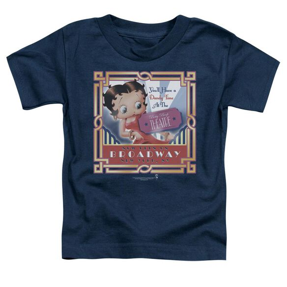 Betty Boop On Broadway Short Sleeve Toddler Tee Navy Sm T-Shirt