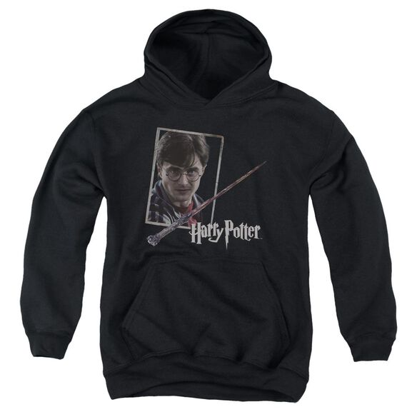 Harry Potter Harrys Wand Portrait Youth Pull Over Hoodie