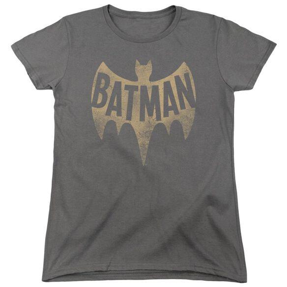 Batman Classic Tv Vintage Logo Short Sleeve Womens Tee T-Shirt