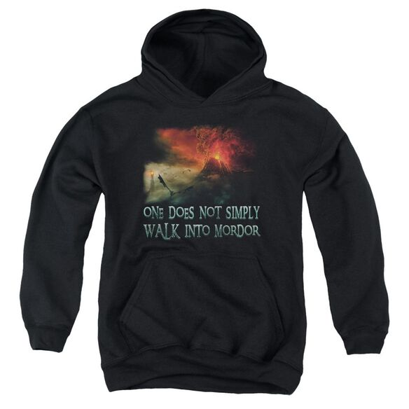 Lor Walk In Mordor Youth Pull Over Hoodie