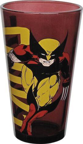 Wolverine and Incredible Hulk Pint Glass Set