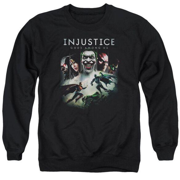 Injustice Gods Among Us Key Art Adult Crewneck Sweatshirt