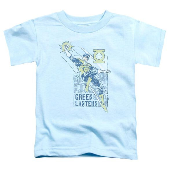 Green Lantern City Watch Short Sleeve Toddler Tee Light Blue T-Shirt