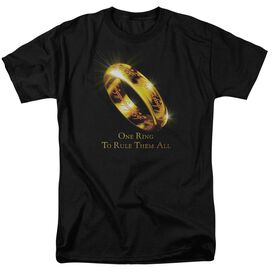 Lor One Ring Short Sleeve Adult Black T-Shirt