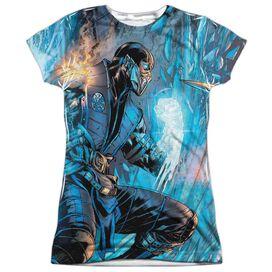 Mortal Kombat Kombat Comic Short Sleeve Junior Poly Crew T-Shirt