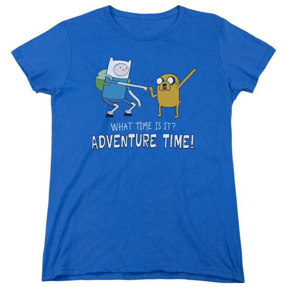 Adventure Time Fist Bump Short Sleeve Womens Tee Royal T-Shirt