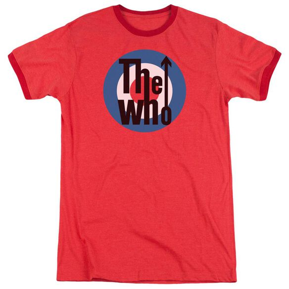 The Who Logo Adult Heather Ringer Red