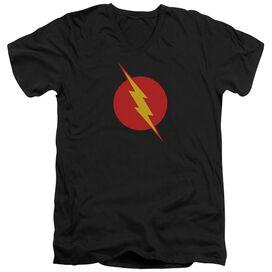 Jla Reverse Flash Short Sleeve Adult V Neck T-Shirt