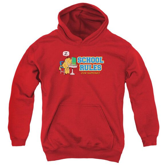 Garfield School Rules Youth Pull Over Hoodie