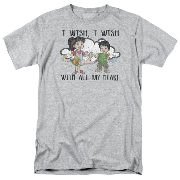 Dragon Tales I Wish With All My Heart Short Sleeve Adult Athletic T-Shirt
