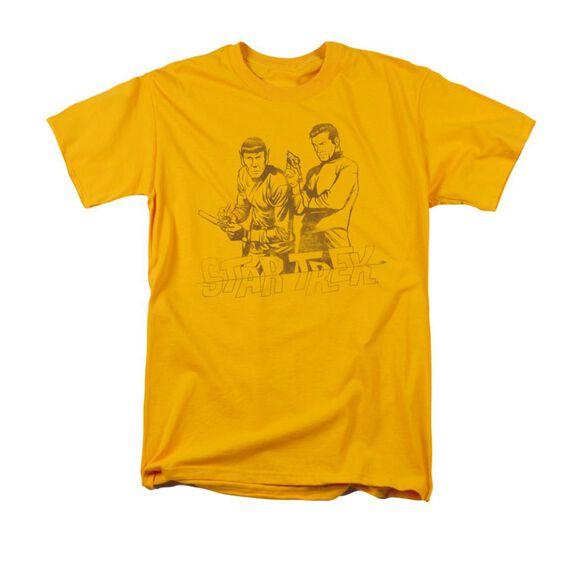 Star Trek Brains & Guts Short Sleeve Adult Gold T-Shirt