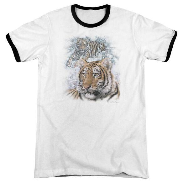 Wildlife Tigers Adult Ringer White Black