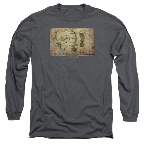 The Hobbit Middle Earth Map Long Sleeve Adult T-Shirt