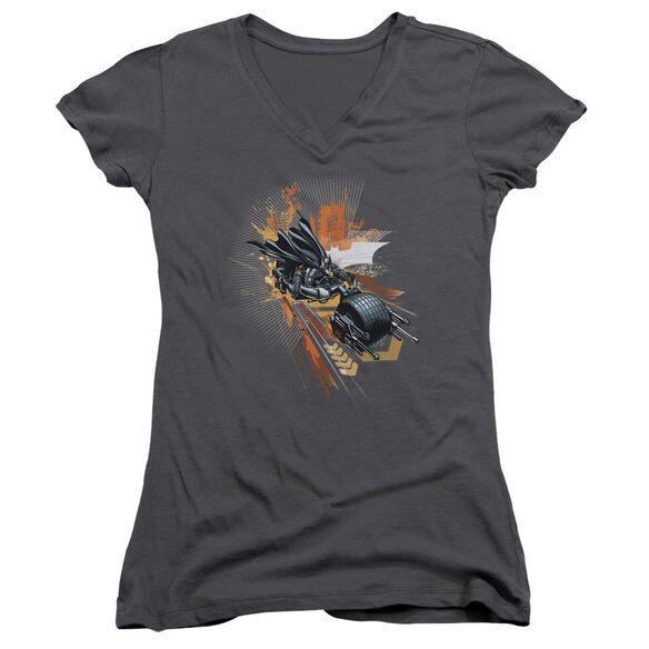 Dark Knight Rises Batpod Junior V Neck T-Shirt