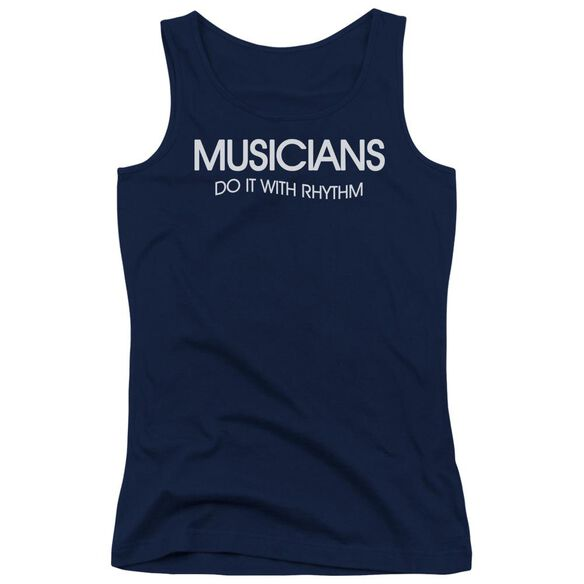 Musicians To It Rhythm Juniors Tank Top
