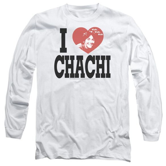 HAPPY DAYS I HEART CHACHI - L/S ADULT 18/1 - WHITE T-Shirt