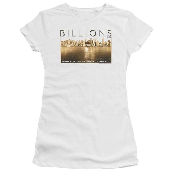 Billions Golden City Short Sleeve Junior Sheer T-Shirt