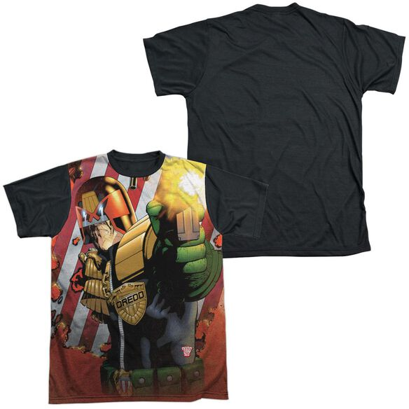 Judge Dredd Democracy Short Sleeve Adult Front Black Back T-Shirt