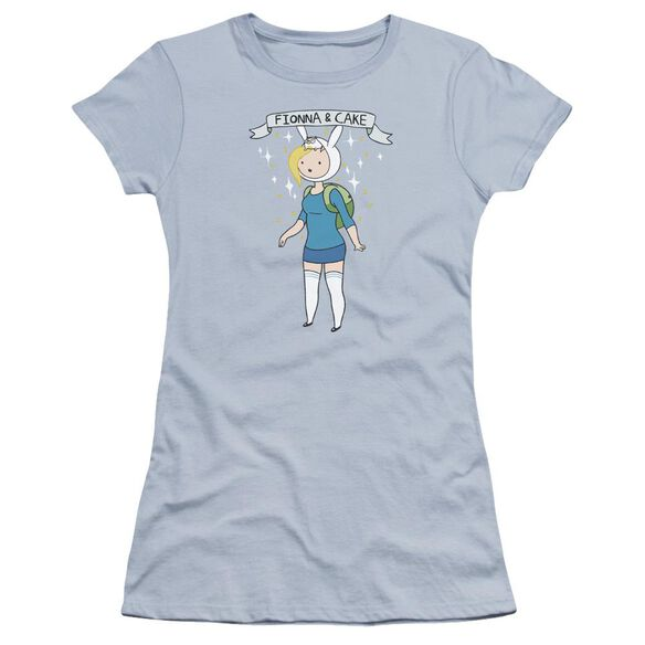 Adventure Time Fionna & Cake Hbo Short Sleeve Junior Sheer Light T-Shirt