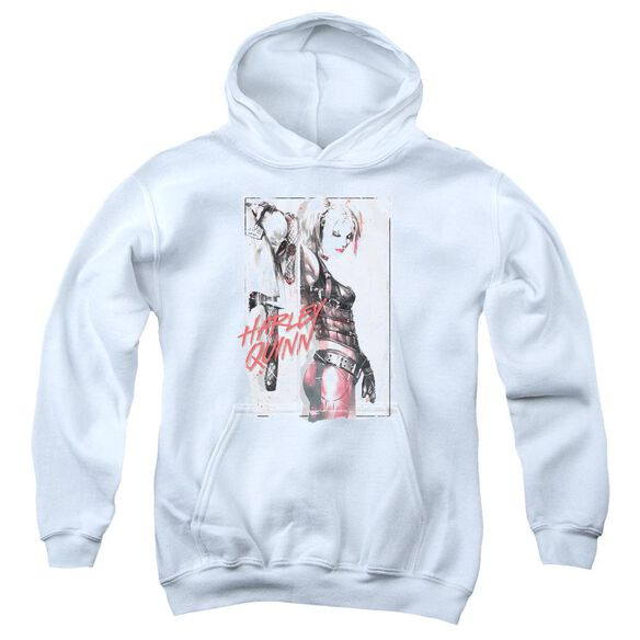 Batman Ink Wash Harley Youth Pull Over Hoodie
